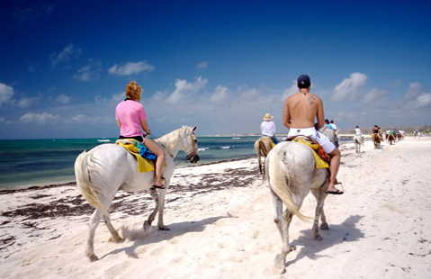 cancun horseback beach
