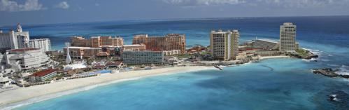 cancun 浜�全景